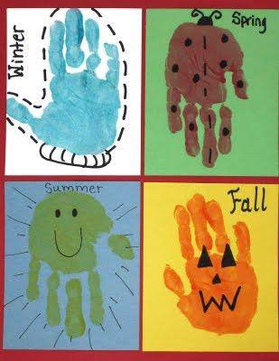 seasons hand prints