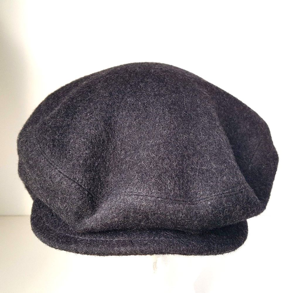 1a0495118e6 Mens Country Gentleman Gray Wool Cashmere Cabbie Golf Newsboy Hat Size Large   CountryGentleman  NewsboyCabbie
