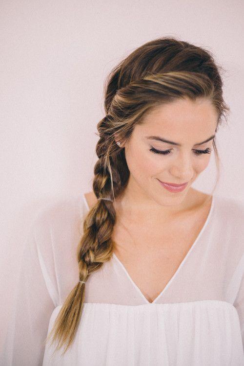 Twisted Side Braid Tutorial Julia Berolzheimer Braided Hairstyles For Wedding Cute Braided Hairstyles Side Braid Hairstyles