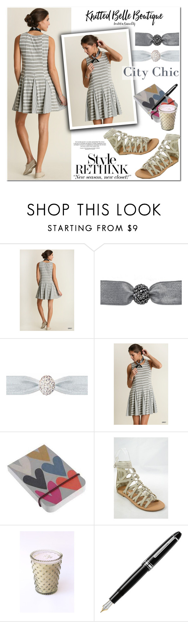 """""""Style rethink"""" by knittedbelleboutique ❤ liked on Polyvore featuring Emi-Jay, Caroline Gardner, Soda, K. Hall Designs (Simpatico) and Fountain"""