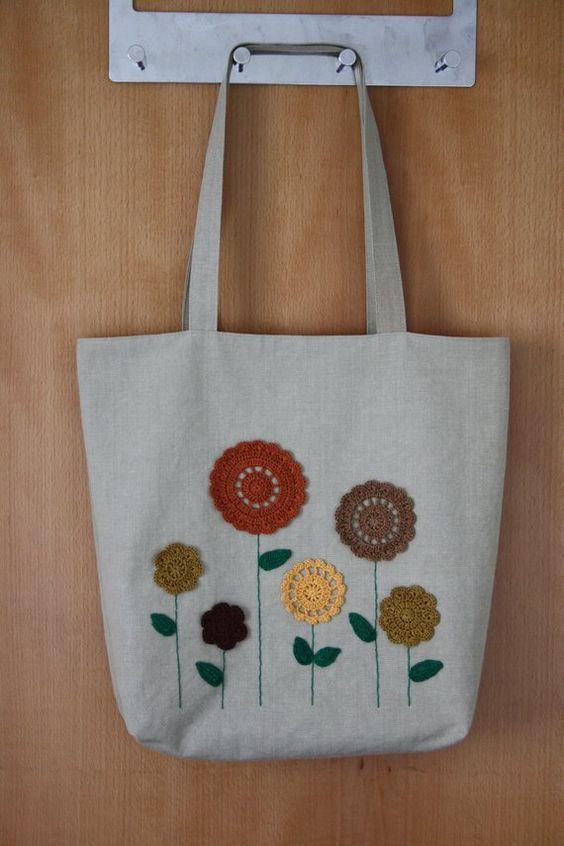 30 Şık kumaş alışveriş çantası modeli #bags