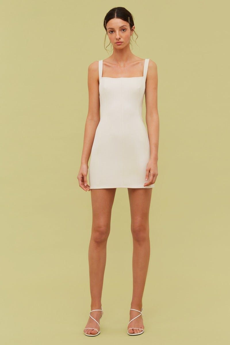 Consumed Mini Dress Ecru In 2020 Mini Dress Mini Dresses Online Fitted Mini Dress