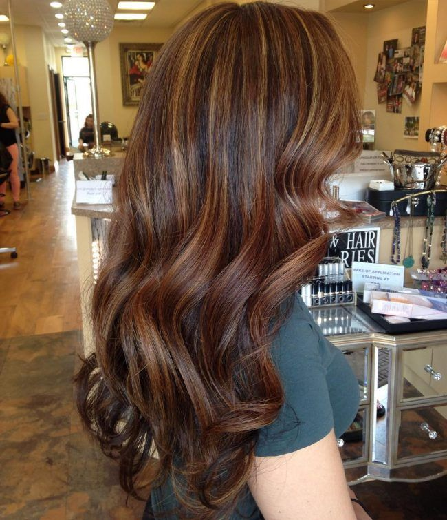 Gorgeous Caramel On Blowout Waves