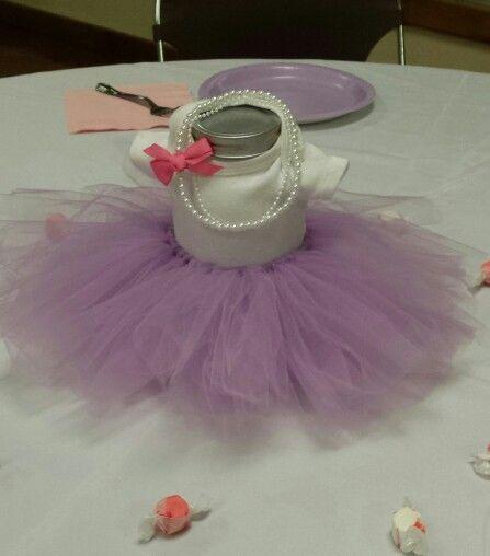 Great Ballerina Tutu Centerpiece For Baby Shower
