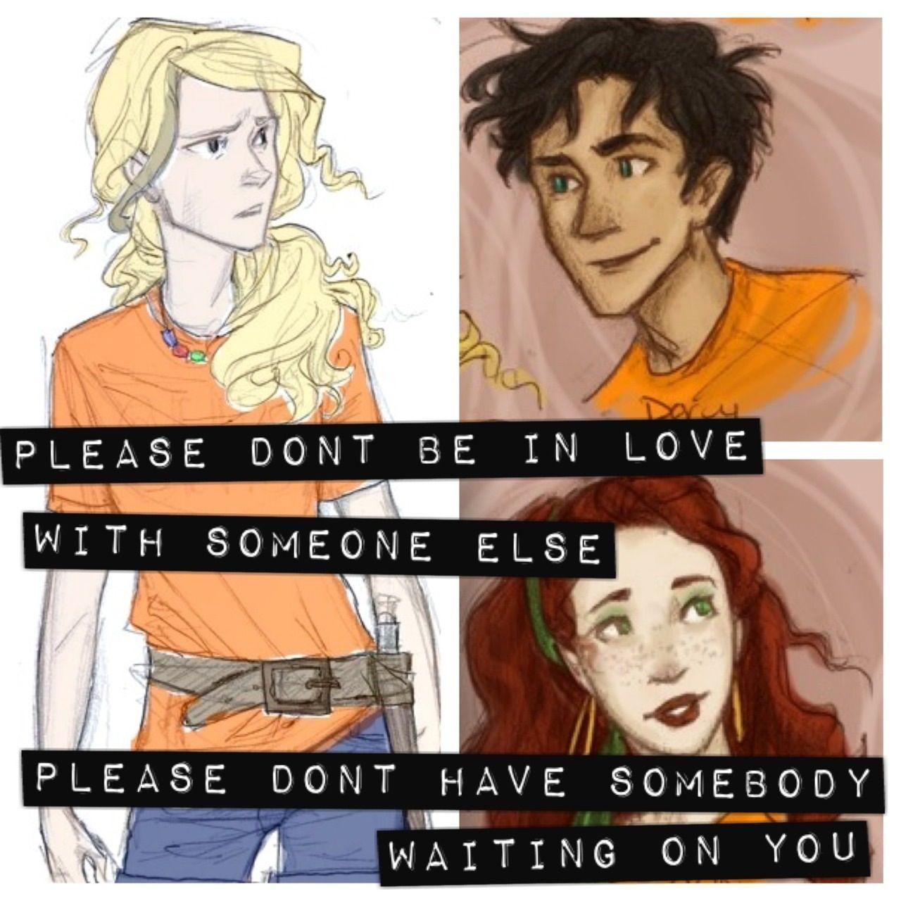 Percy Jackson, Annabeth Chase, and Rachel Elizabeth Dare