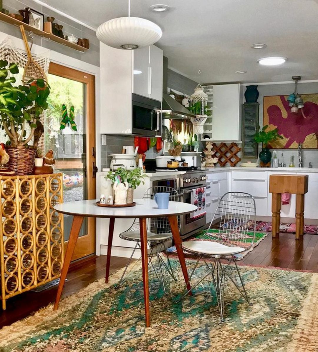 epic 10 beautiful bohemian kitchen interior designs with good arrangements https 24 moolton co on boho chic home decor kitchen id=61177