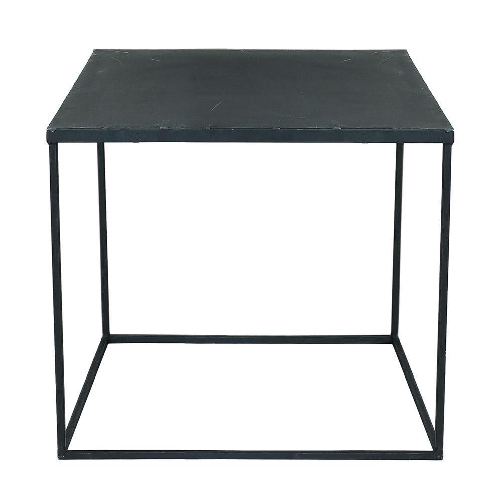 Couchtisch antik schwarz  Couchtisch im Industrial-Stil aus Metall, B 45 cm, schwarz antik ...