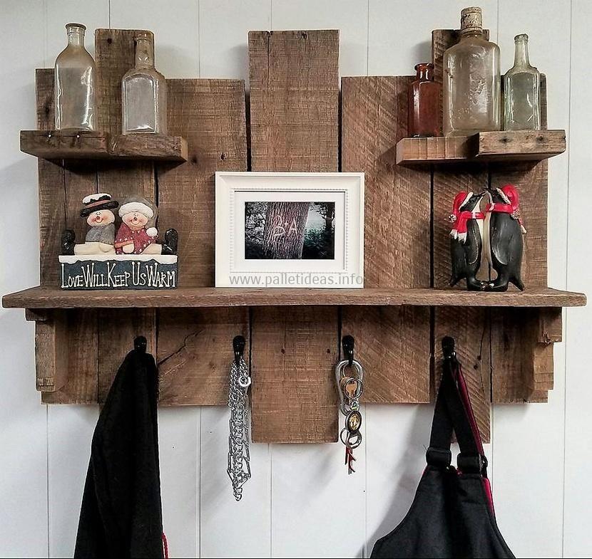 Image result for pallet shelves Diy coat rack, Pallet