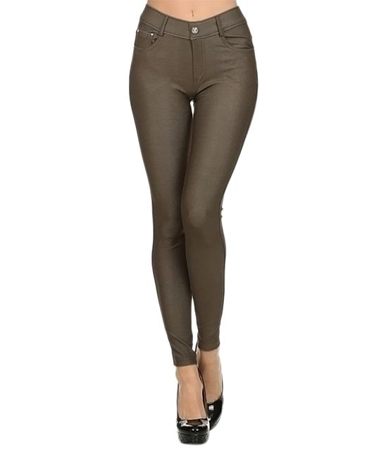 Army Green Jeggings - Elegant Apparel Army Green Jeggings Jeggings, Denim And Jeans
