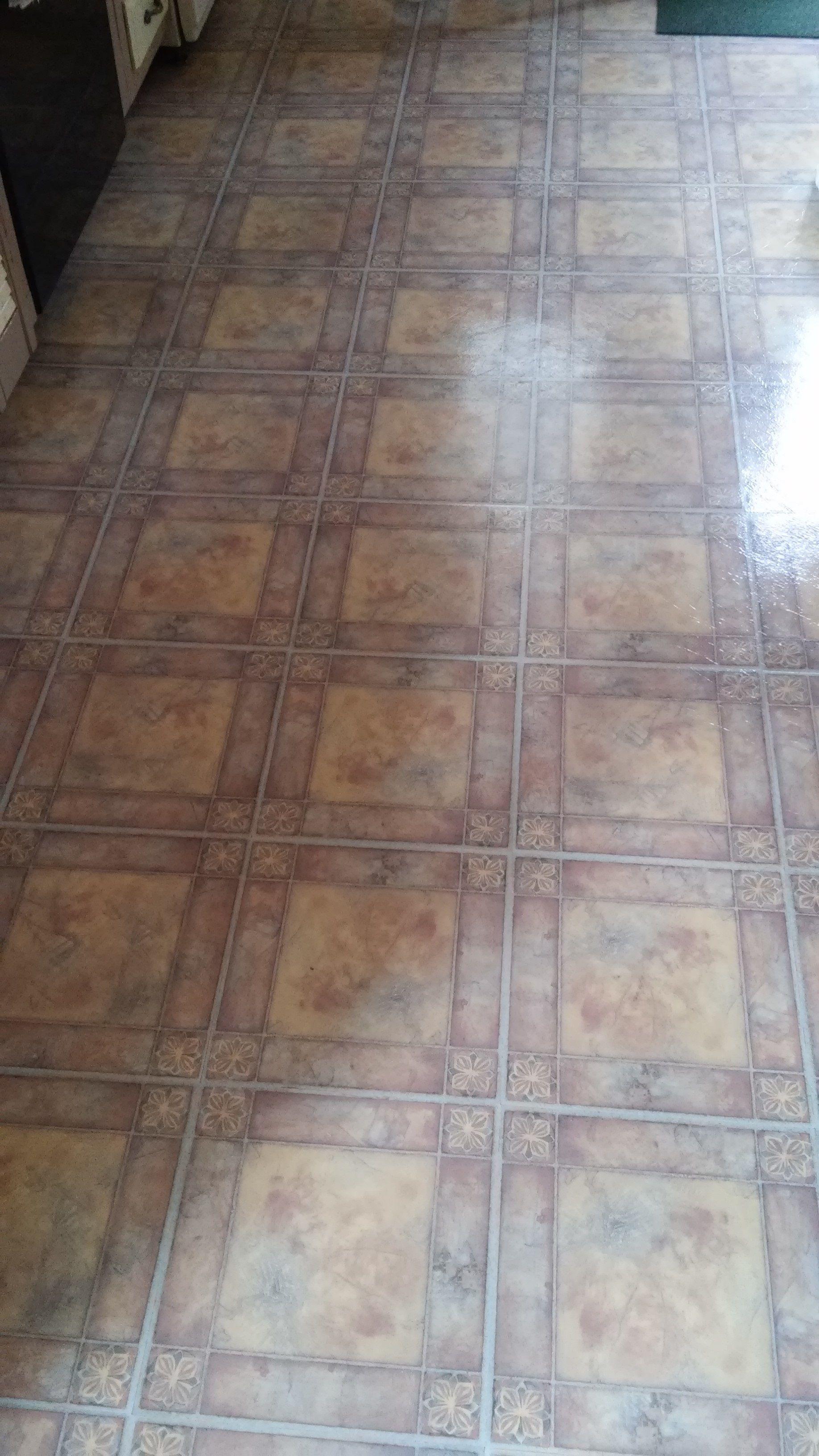 Floor mats in spanish - Stephanie H Shared Her Installation Of Spanish Rose Peel Stick Floor Tile