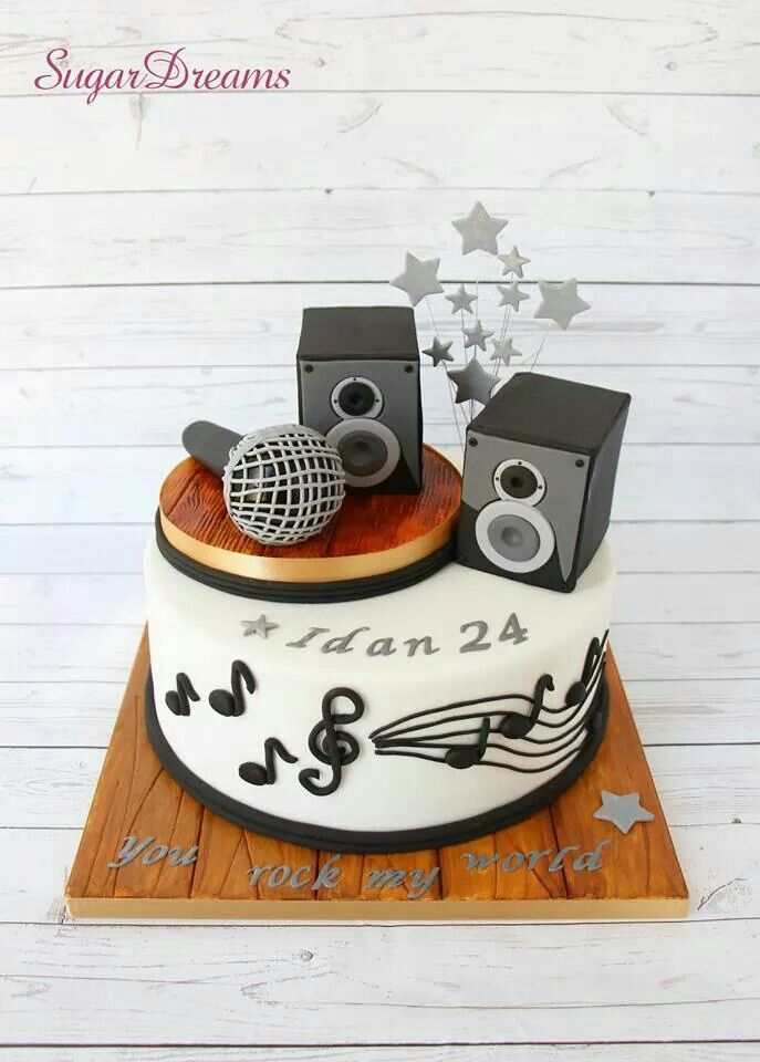 Fine Pin By Blueeyed Cake Girl On Cakes I Love Music Cakes Music Personalised Birthday Cards Bromeletsinfo
