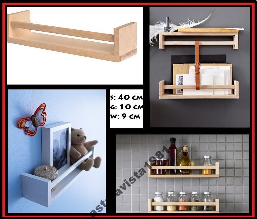 Ikea Bekvam Uchwyt Na Przyprawy Półka Drewniana Home Sweet