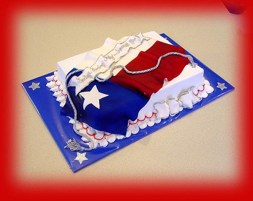 Pleasing Texas Flag Cake Flag Cake Texas Cake Cake Personalised Birthday Cards Veneteletsinfo
