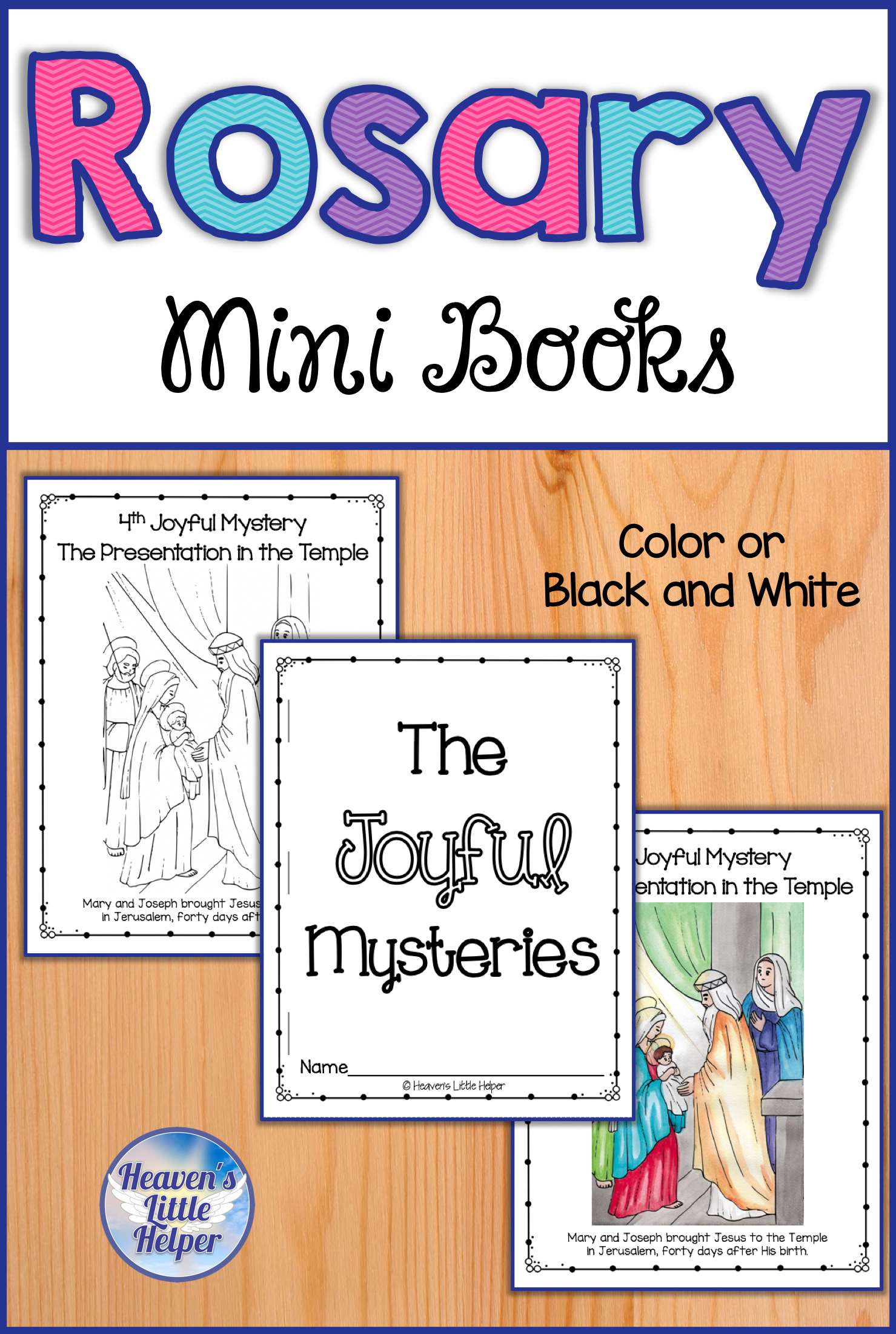 these printable rosary mini books are perfect for catholic kids the drawings will help children [ 1479 x 2200 Pixel ]