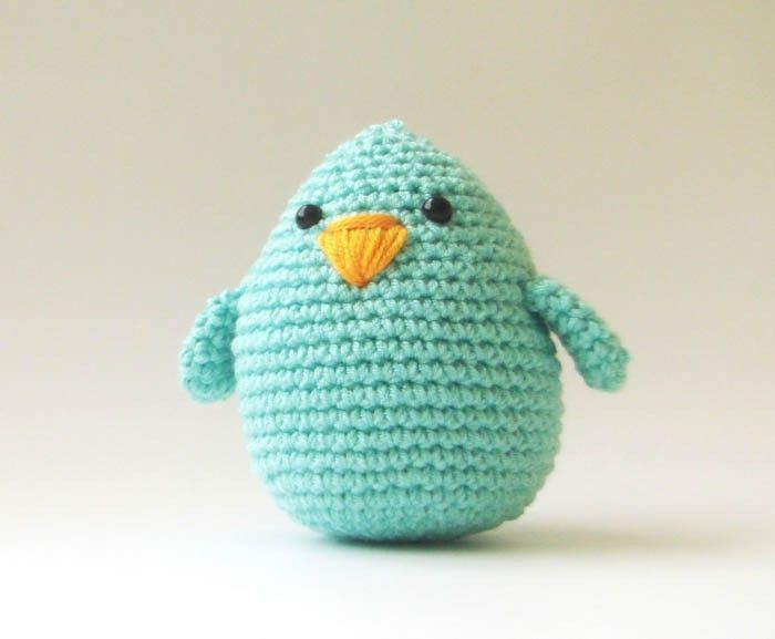 cute chicken crochet baby toy or easter decoraton. $19.00, via Etsy.