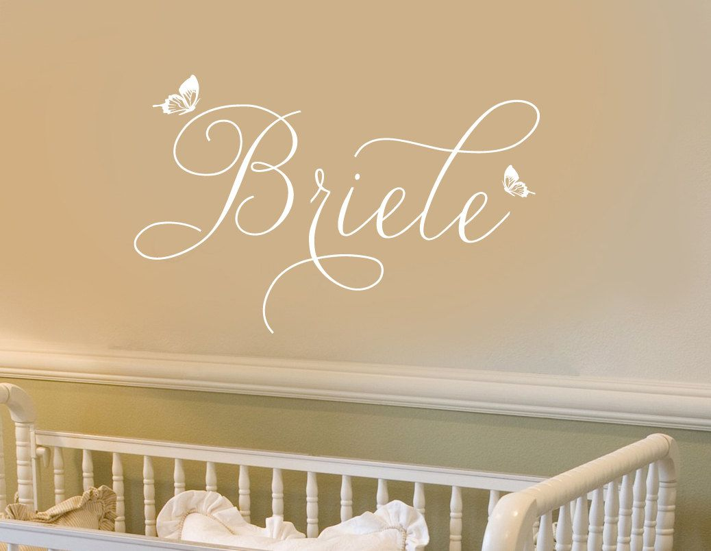 Wall Decal Personalized Little S Name Whimsical Erflies Script 023 35 30 00 Via