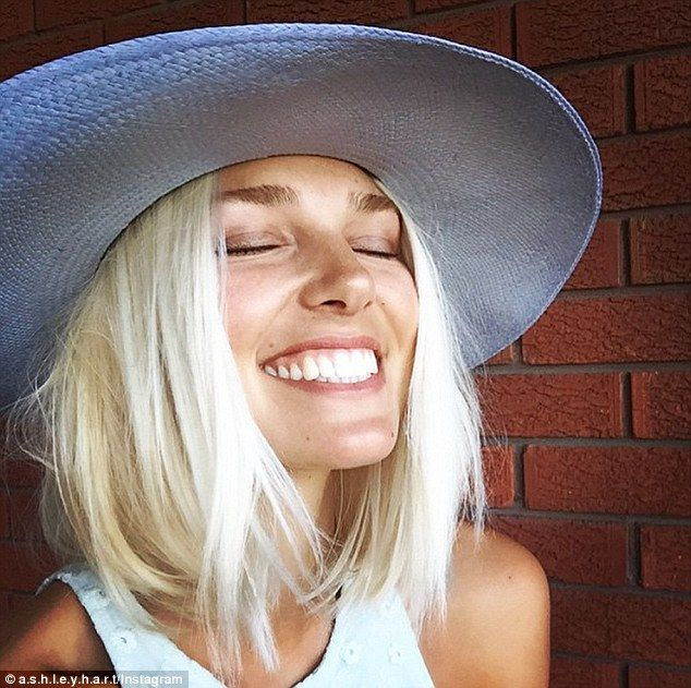Different woman! Model Ashley Hart took to Instagram on Tuesday to show off her short new haircut