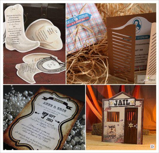 Populaire decoration mariage western faire part botte santiag porte_saloon  ZC68