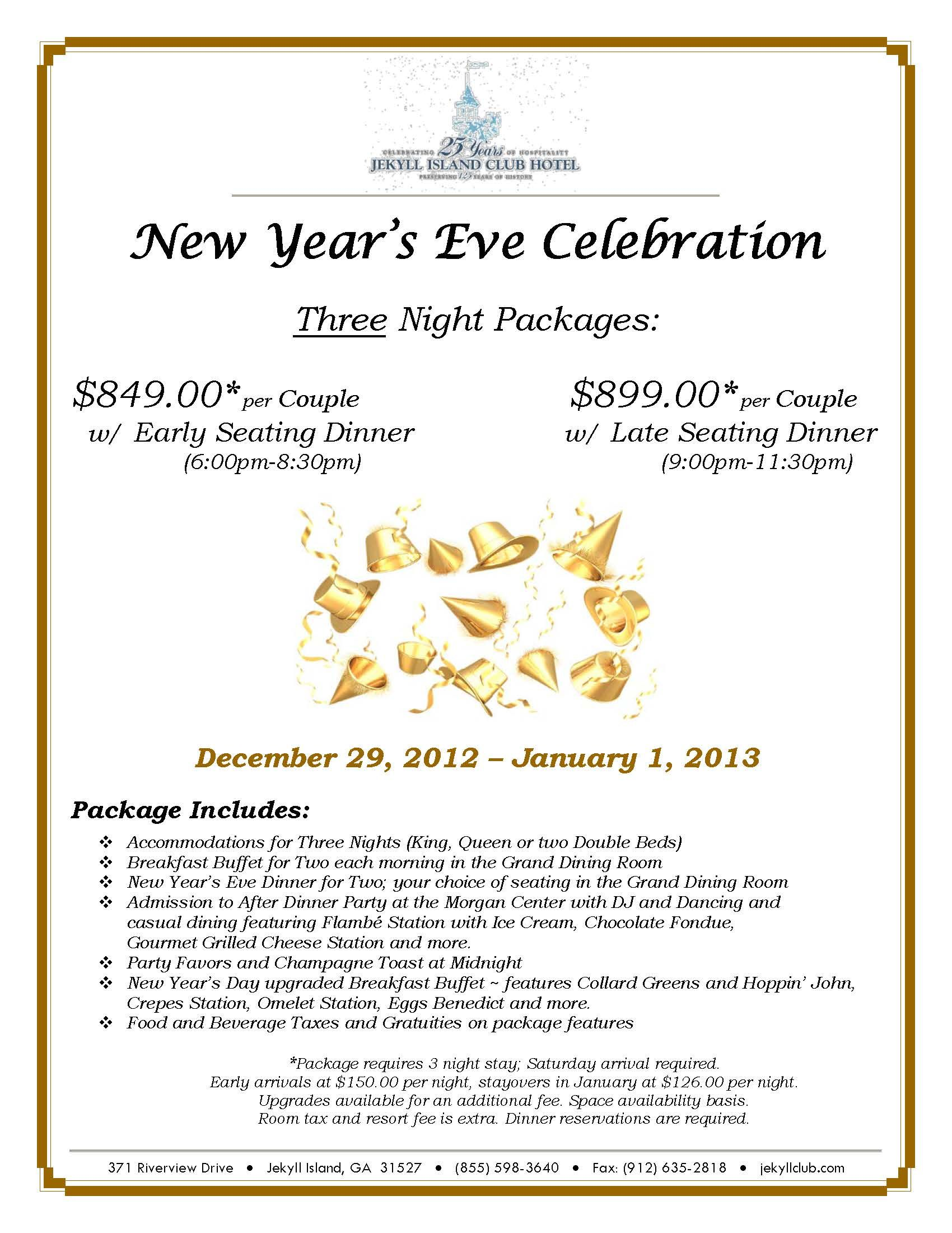 New Years Eve Hotel Vacation Packages New Years Getaway