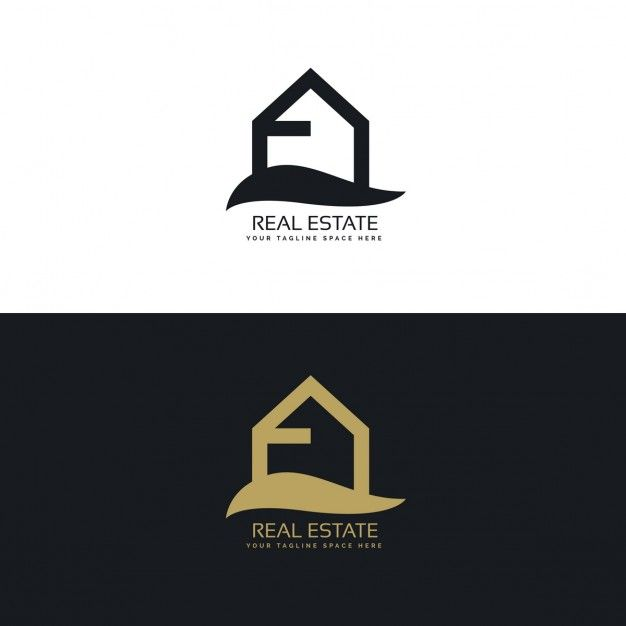 Black and gold real estate logo with  house free vector also daniel swanborough nilson danielswanborou on pinterest rh