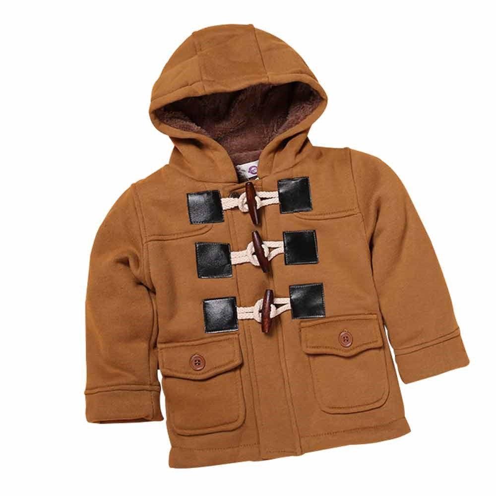 817d767c3 Kids Tales Little Baby Boy s Hooded Fleece Coat Winter Outwear