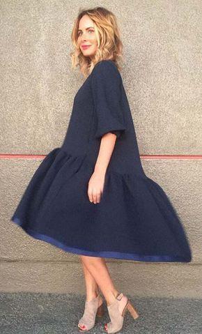 aa26edd39cb2a Как кроить и сшить платье «трапеция с оборкой и перепадом» . Обсуждение на  LiveInternet