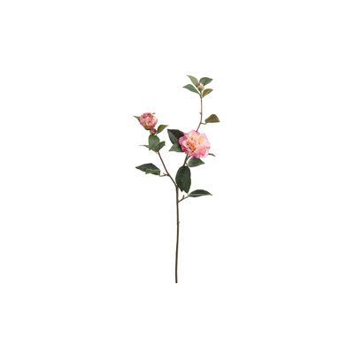 35 Silk Real Touch Camellia Flower Spray 2 Tone Pink In 2020 Flower Spray Camellia Flower Fake Flowers