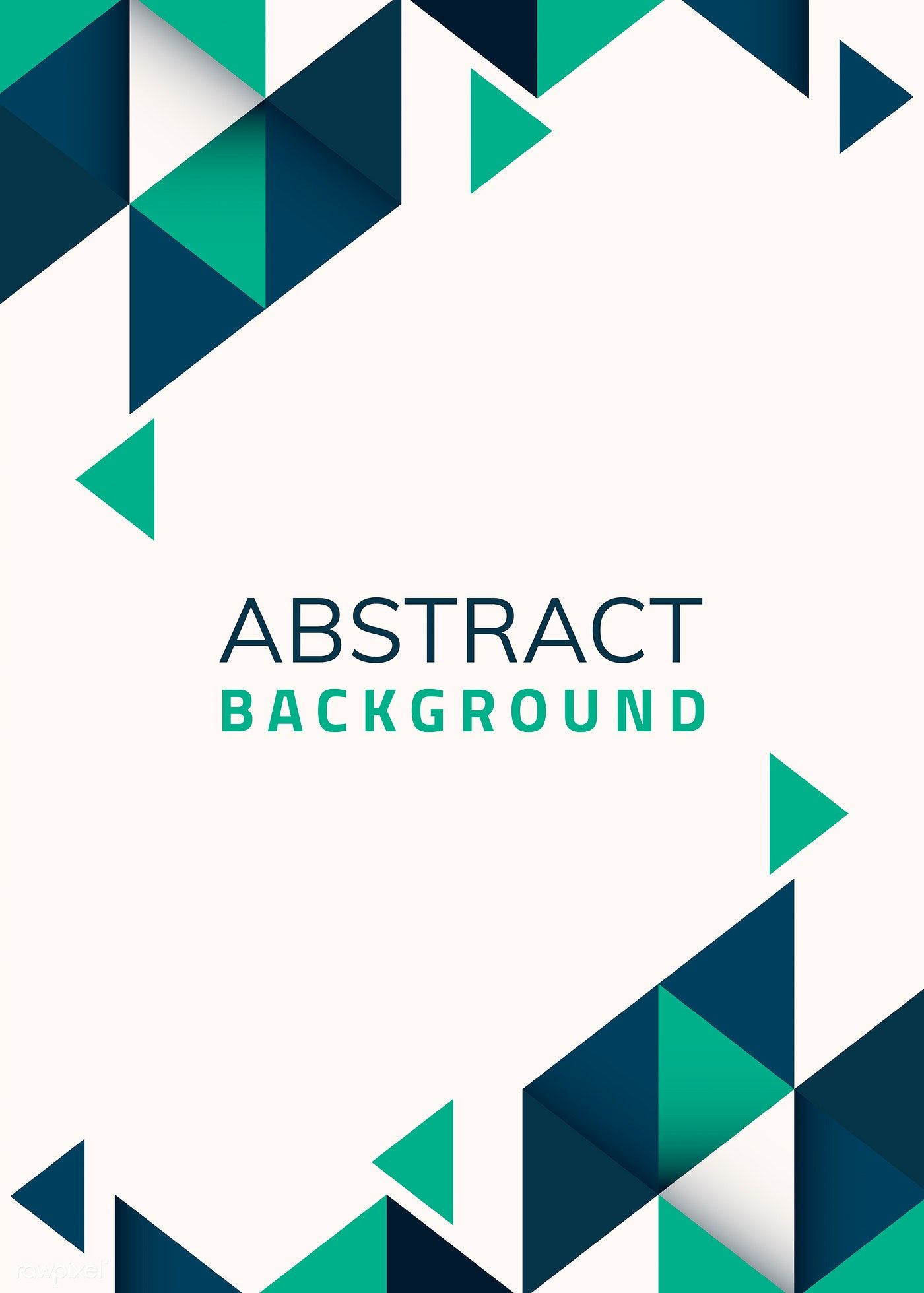 Download Premium Vector Of Abstract Blue And Green Geometric Background Geometric Background Background Design Vector Vector Free