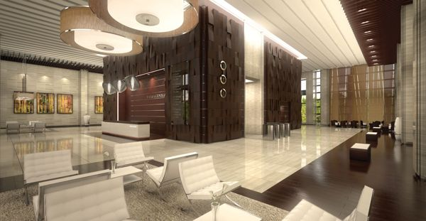 Lobby Interior Design wanda guangzhou - lobby interior design on behance | development