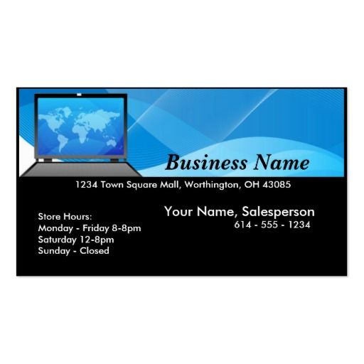 World laptopcomputer business card business cards and business world laptopcomputer business card cheaphphosting Images