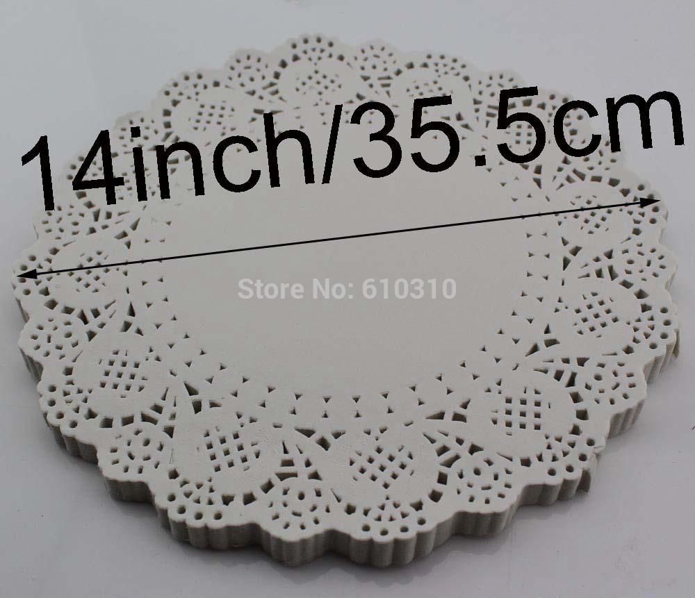 Best 14inches355mm Vintage Napkin Hollowed Lace Paper Doyleys Paper