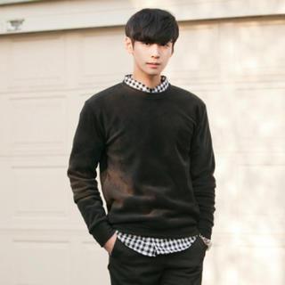 Brushed-Fleece Sweatshirt from #YesStyle <3 ABOKI YesStyle.com