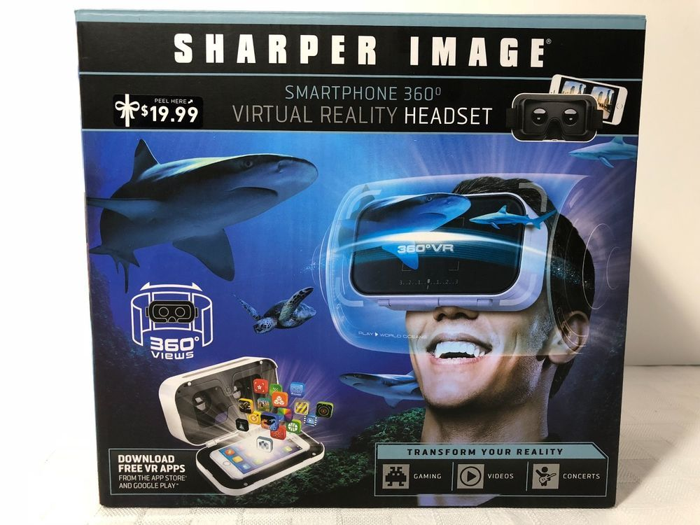 Sharper Image Smartphone 360 Degree Virtual Reality Headset White
