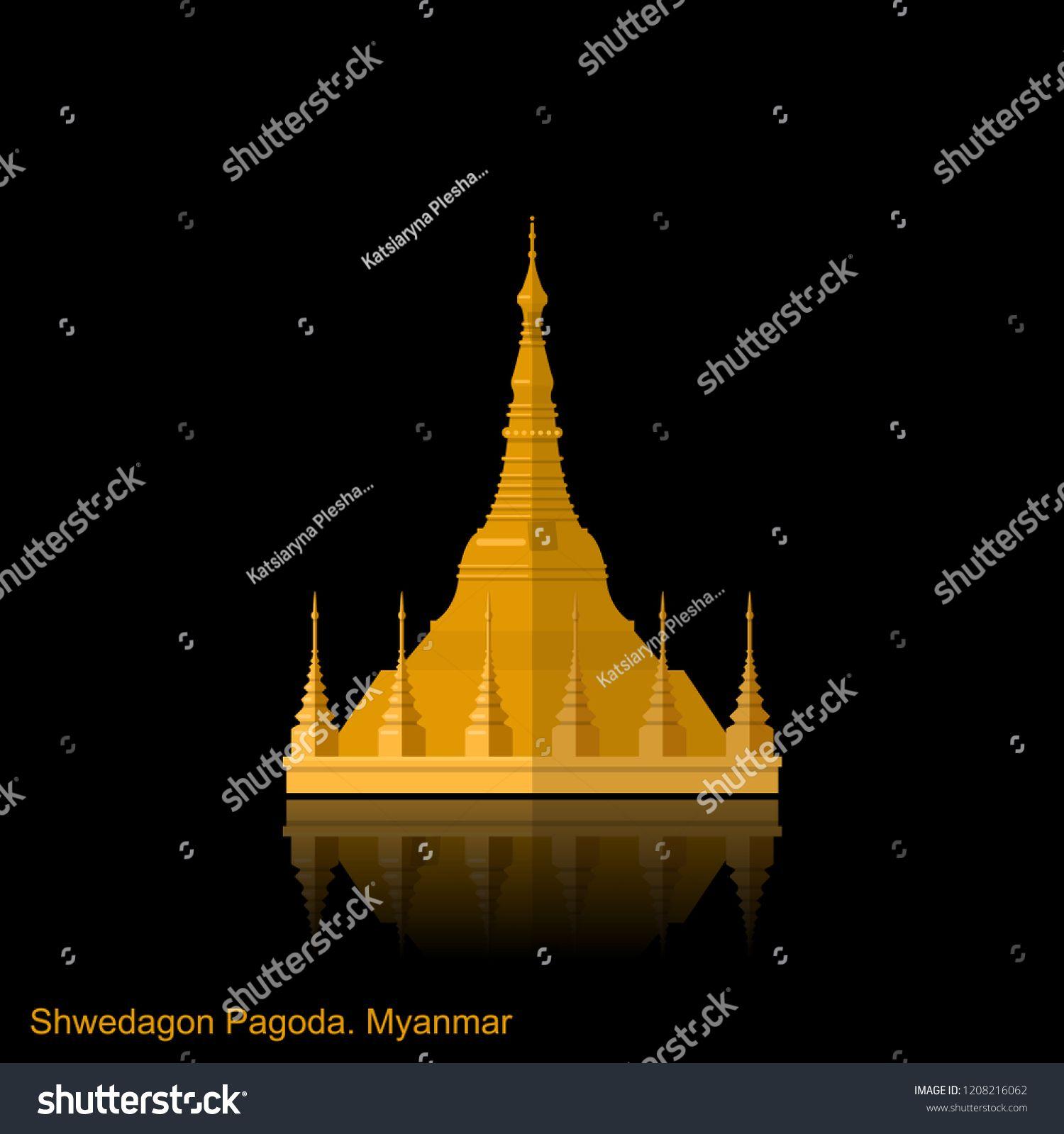 Myanmar Travel Destination Yangon Symbol Shwedagon Pagoda Tourism Concept Culture And Architecture Famous Landmark Shwedagon Pagoda Myanmar Travel Pagoda