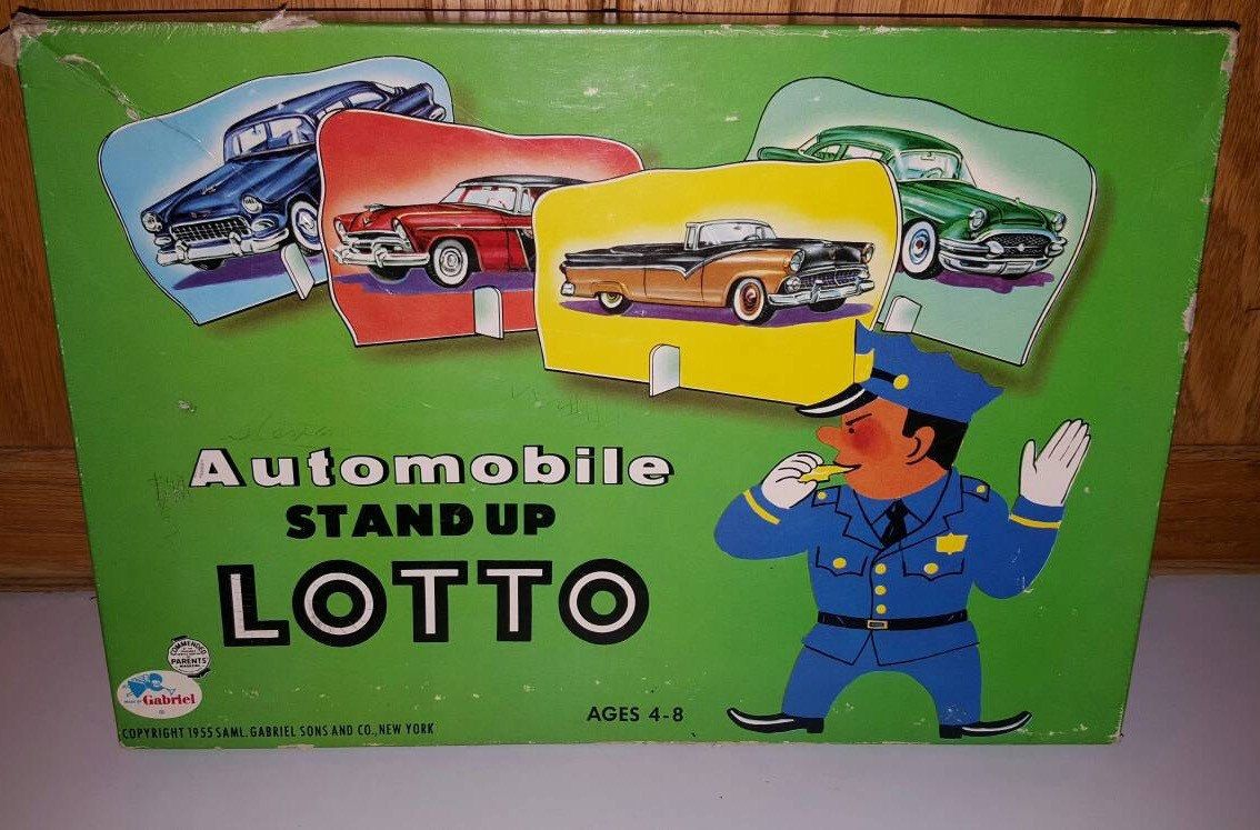 game board picture Vintage lotto
