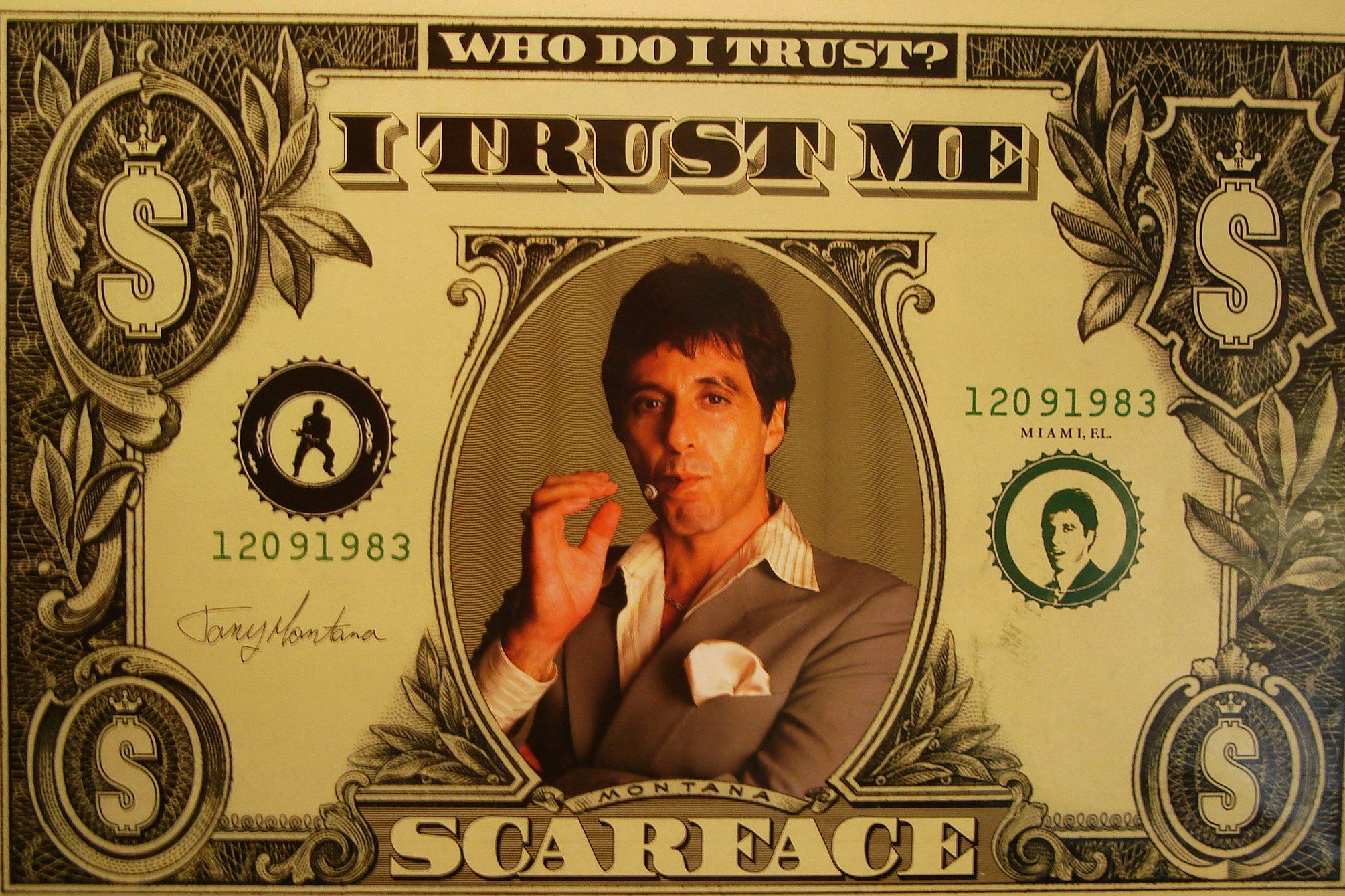 SCARFACE POSTER MONEY DOLLAR AL PACINO CLASSIC MOVIE WALL PRINT TONY MONTANA