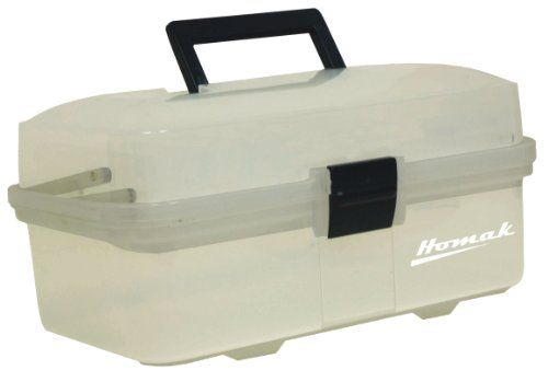 Homak 13 Inch Plastic Transparent Toolbox With 2 Tray Tier Tp00113067 Tool Box Plastic Tool Box Cantilever Tool Box