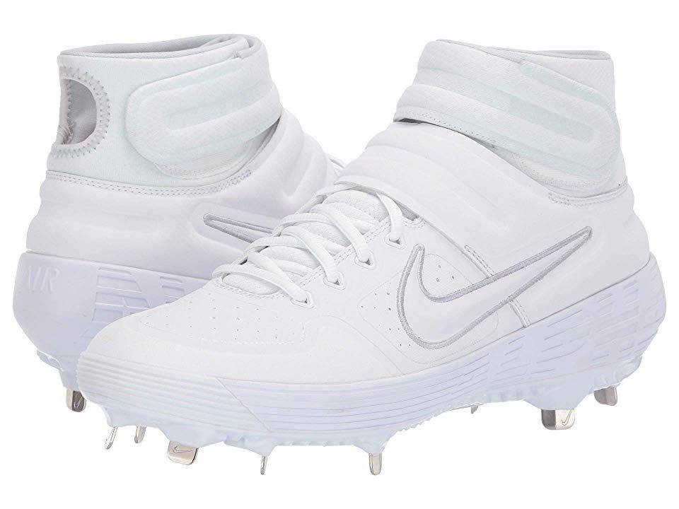 e4c4771616c9 Nike Alpha Huarache Elite 2 Mid Men s Cleated Shoes White White White