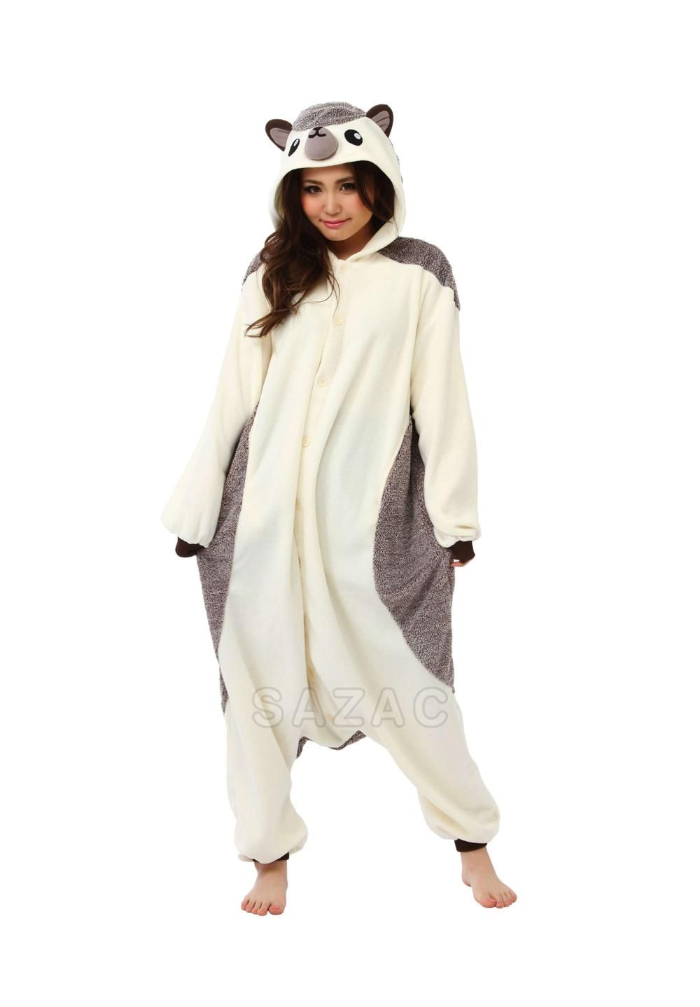 Sazac adult Kigurumi areone size fits most adults. It is just the distance  from one side of the Kigurumi to the other. What is Kigurumi  23b771045