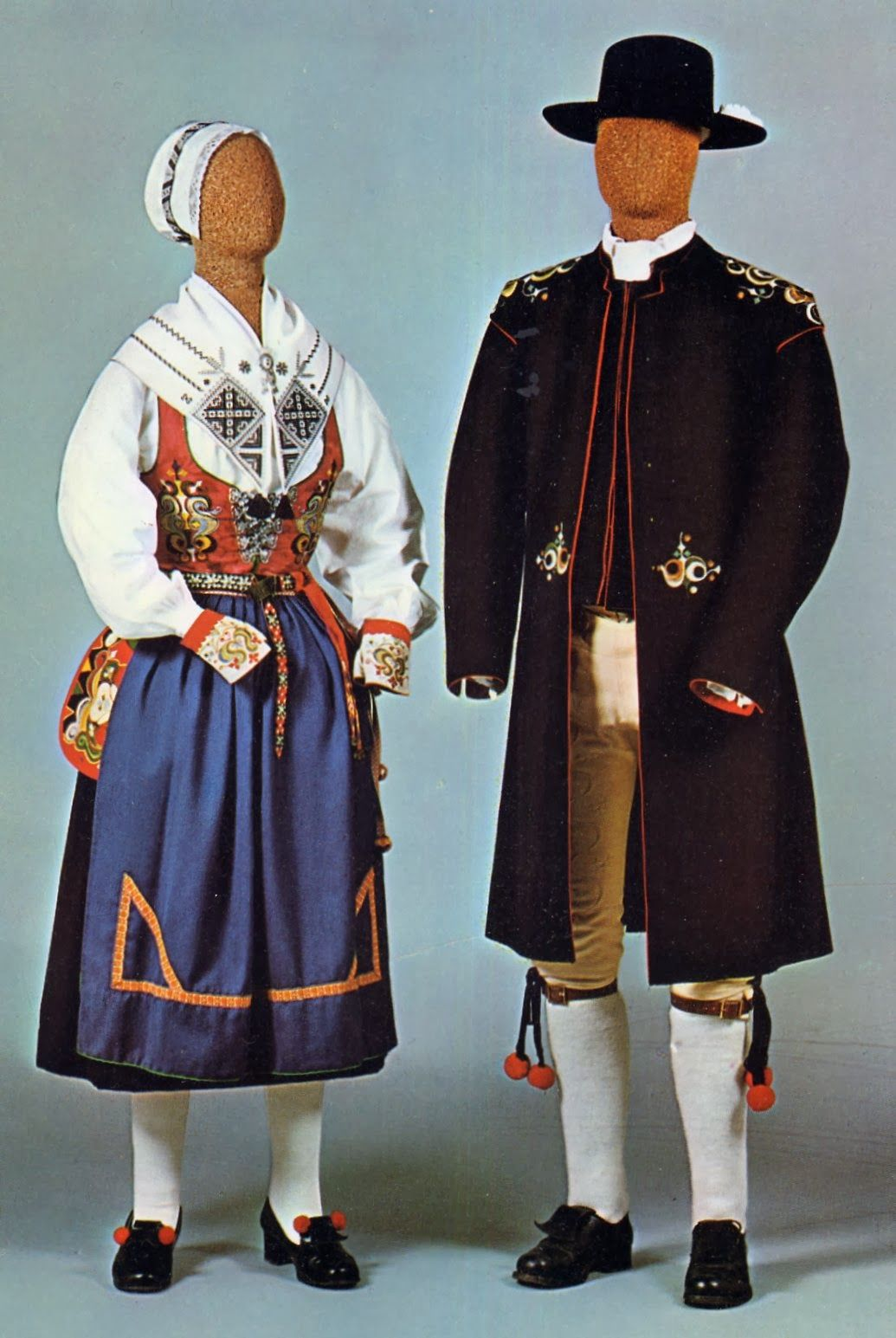 Mens Costume Of Leksand Dalarna Sweden And Leksand Embroidery