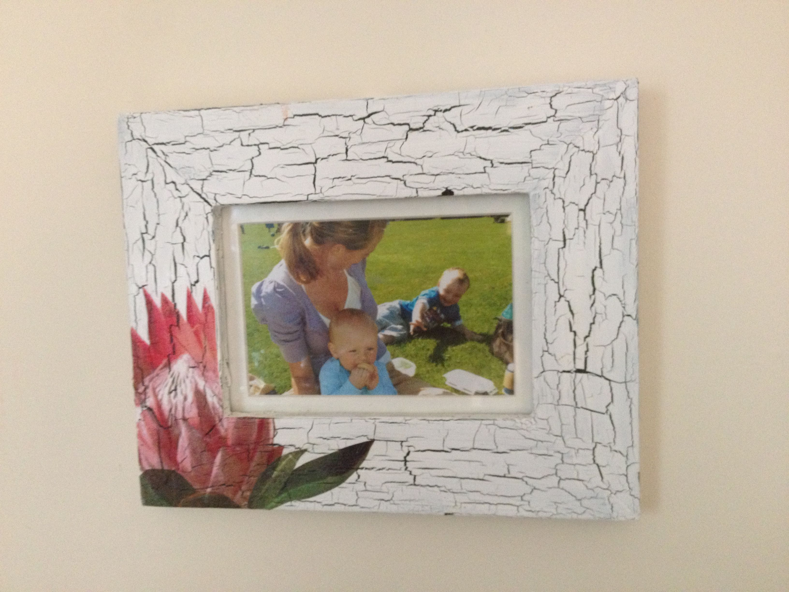 Crackle effect and napkin decoupage on old frame projects to try crackle effect and napkin decoupage on old frame jeuxipadfo Image collections