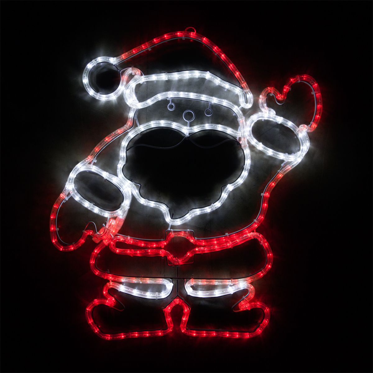28 led waving santa red and white lights santa christmas 28 led waving santa red and white lights mozeypictures Images