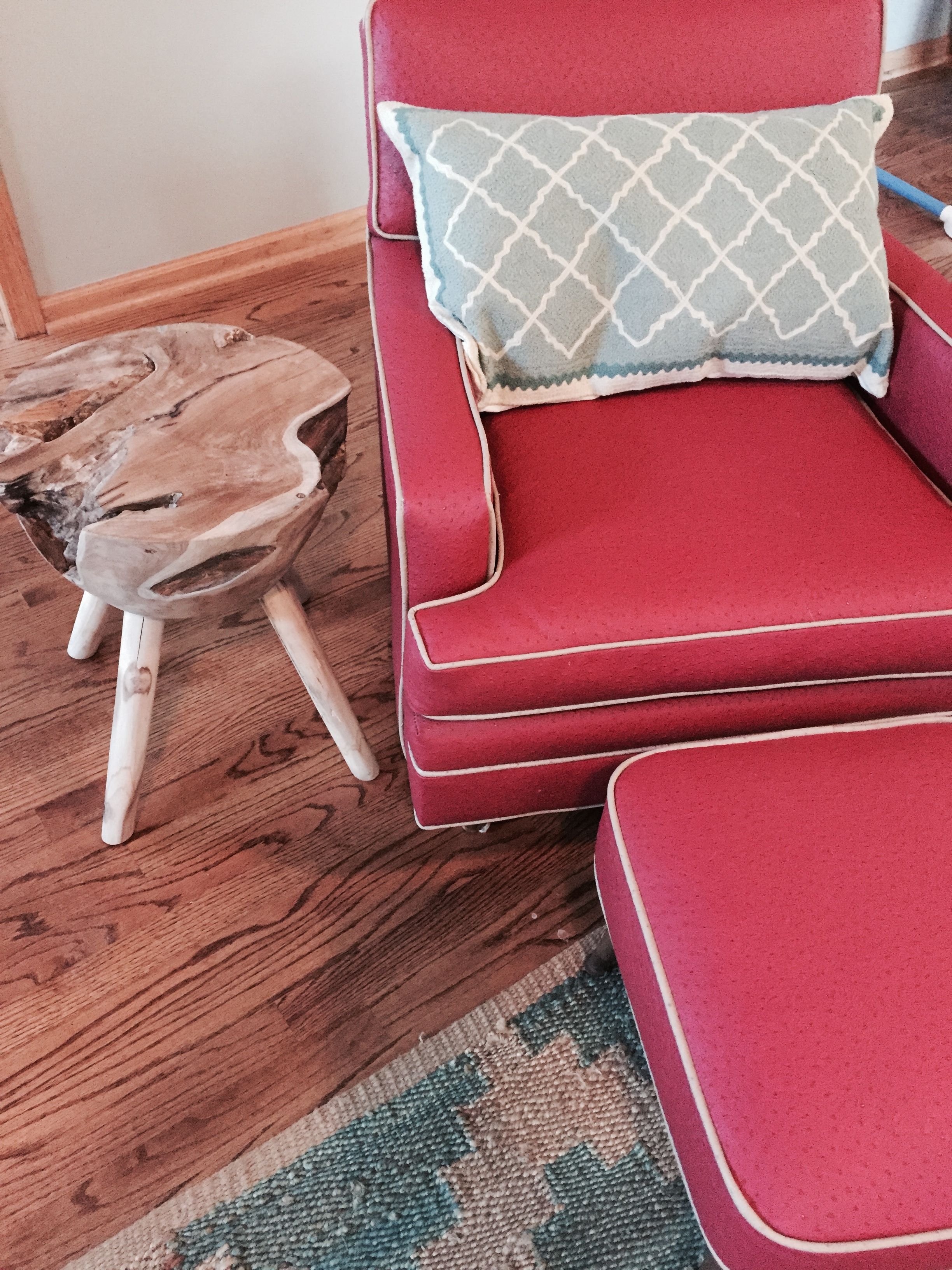 Captivating My Mid Century Modern Chair Gets A Fun Side Table Addition. I Found This