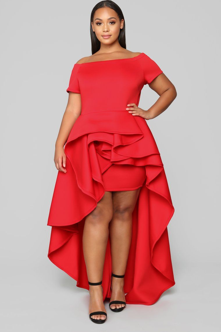 Redeeming Love High Low Dress Red Plus size dresses