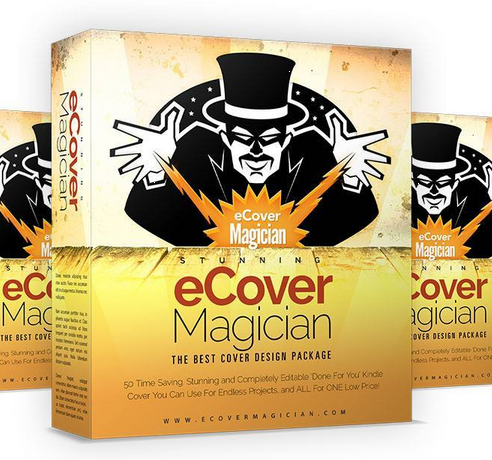 Ecover Magician – TOP Cover Design Package with 50 Time Saving Stunning and Completely Editable 'Done For You' Kindle Cover