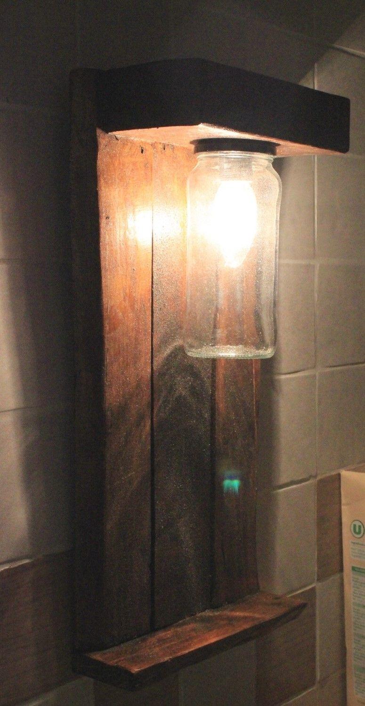 Lampe de cuisine | Les petites palettes Recycling Upcycling ... - Lampe De Cuisine