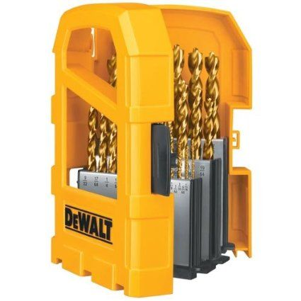 Dewalt Dw1369 29 Piece Titanium Pilot Point Drill Bit Set Amazon Com Drill Bits Dewalt Drill Bit Sets