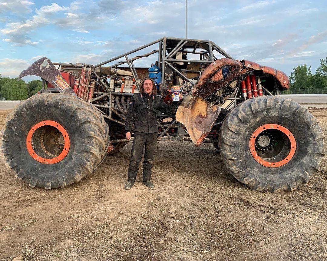 Monster Truck Throwdown On Instagram Chris Koehler Takes Down His Father Jim Koehler In The Championship Round Of Racing To Monster Trucks Birch Run Monster