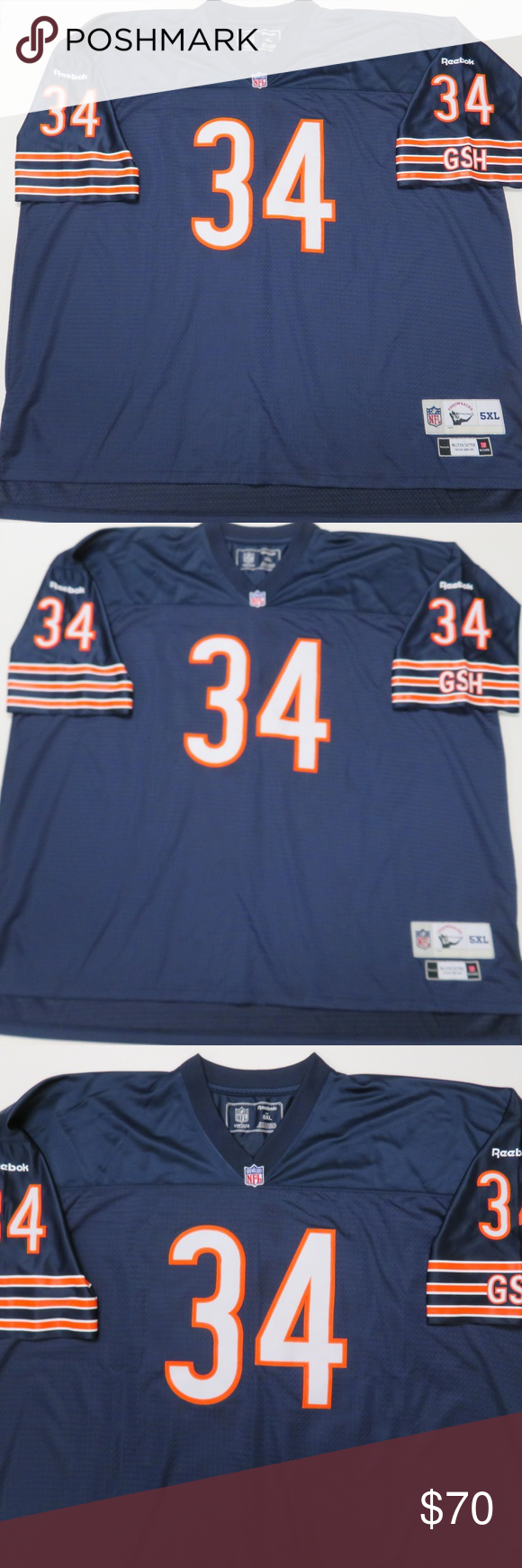 271a4cee7 Chicago Bears Walter Payton Throwback Jersey Reebok Vintage Collection  Throwbacks Chicago Bears Walter Payton  34