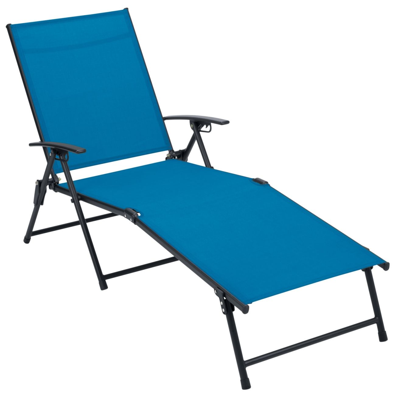 Stupendous Living Accents Blue Folding Sling Chaise Lounge Lounge Inzonedesignstudio Interior Chair Design Inzonedesignstudiocom